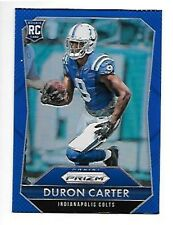 DURON CARTER  2015 PANINI PRIZM BLUE ROOKIE #227  COLTS     FREE COMBINED S/H