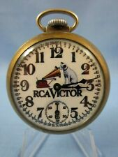 VINTAGE 1950's ** RCA VICTOR ~ RCA RECORDS ** ADVERTISING POCKET WATCH  USA MADE