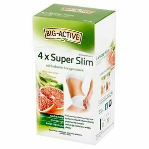 Big Active 4 x Super Slim Tea with Yerba Mate & Hibiscus Flower Fat Burning Tea