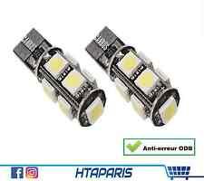 2 X LED CANBUS ANTI ERREUR ODB 5050 - 9 SMD W5W T10 - Feu de Jour / interieur
