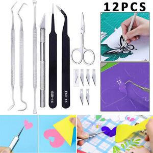 🔥 12Pcs Craft Vinyl Weeding Tools Set Basic Vinyl Tool DIY Cricut Lettering Kit