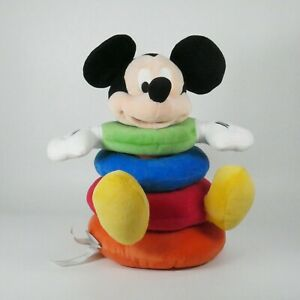 Disney Baby Stacking Ring Plush Toy Mickey Mouse Multicolor Rings Developmental