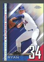 2020 Topps Chrome Update A Numbers Game Insert Refractor #NGC-6 Nolan Ryan