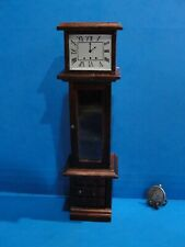 Dollhouse wood grandmother clock