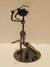 Nuts & Bolts Golfer Scrap Metal Welded Golf Figurine Sculpture - Artwork