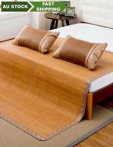 Bamboo mat foldable premium both sides with 2 pillow cases 双面高级折叠碳化竹席竹凉席+2 枕套