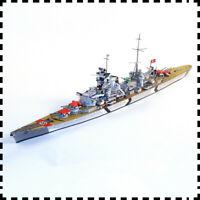 1:400 WW2 SMS Prinz Eugen Dreadnought Battleship DIY Handcraft Paper Model Kit