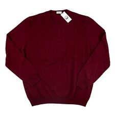 Men's COUNTRY CLUB Red Wool Cashmere Crewneck Sweater Shirt 58 3XL / 2XL NWT