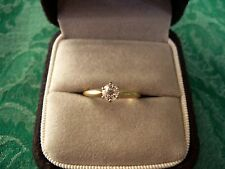 Ladies Diamond Engagement Ring w/Old Cut 0.15pt Rd Diamond G Color S12 Clarity