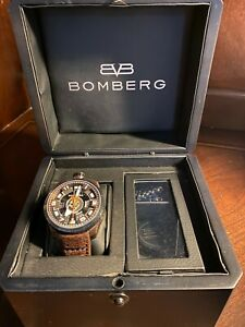 Bomberg Bolt 68 Automatic BS45APBRBA Black Brown Wrist & Pocket Watch