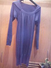 Vestito cotone Sisley taglia M colore viola donna