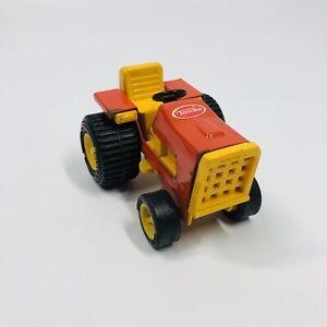 Vintage Tonka Tractor #995 Orange & Yellow Die-Cast & Plastic