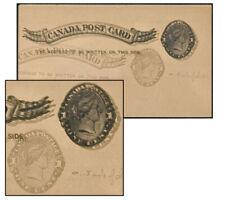 CANADA 1887 1¢ PSC TRIPLE IMPRESSION / RIGHT SIDE P7e