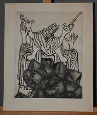 """Ben-Zion Weinman """"Moses"""" Lim. Ed. Etching Signed Listed Artist Biblical Theme"""