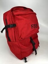 Fss Red Wildland Fire Fighting Backpack Fire Resistant Heavy Canvas