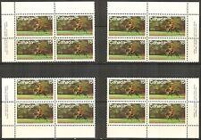Canada #614, 1973 15c RCMP Centenary - Ride on Horseback, 4-Corner PB4 Set NH