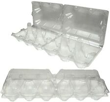 PACK OF 10 CLEAR PLASTIC CHICKEN EGG BOXES - HATCHING EGGS - POULTRY EGG BOXES