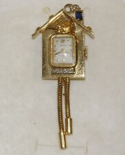 BUCHERER spilla orologio oro 18kt diamanti VINTAGE gold diamond watch brooch