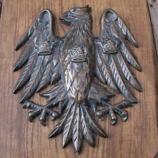 Old Bronze Barclays Bank Eagle on Wood Plaque / Sign