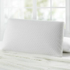 Luxury Comfort White Resilient Natural Latex Bedroom Pillow w/ Cover 65x40x13cm