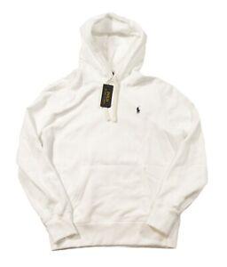 Polo Ralph Lauren Big & Tall White Cotton Blend Fleece Lined Pullover Hoodie
