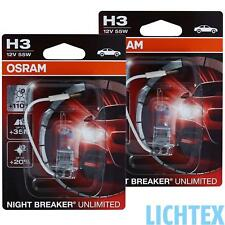 H3 OSRAM Night Breaker UNLIMITED - Power - Scheinwerfer Lampe DUO-Box NEU