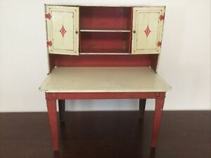 Vintage Metal Doll Cabinet