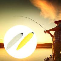 10pcs/lot 2.8cm Soft Lure Grub Larva Worm Silicon Fishing Lures Fishing Pike New