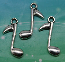 Free shipping 30pcs retro style Music words alloy charms pendants 24*15mm