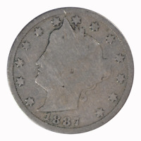 1887 Liberty Head V Nickel Good