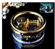 Circle  Gold Wind Up Music Box : Prologue Harry Potter HedwigsTheme
