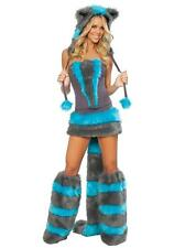 New EDM Adult Woman's Sexy Cosplay Rave Fur Animal Costume Halloween Party S/M