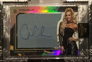 2020 Topps WWE Fully Loaded — Autographed Mat Relic — M-CM Carmella 046/199