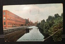 Antique POSTCARD The Paper Mills & Canal, TURNERS FALLS, MA. c1910