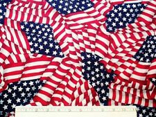 "AMERICAN FLAG Cotton Fabric Waving DIY Craft -  60"" wide -  BTY"