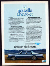 1977 CHEVROLET Caprice Classic Sedan Vintage Original Print AD - Blue car french
