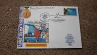2002 WINTER OLYMPIC GOLD MEDAL WIN COVER, JULIA TCHAPALOVA RUSSIA C/C SKIING