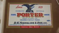 OLD 1970s USA BEER LABEL, YUENGLING BREWERY POTTSVILLE PENNSYLVANIA, PORTER 2