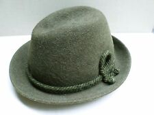 LURATI LL BEAN true vintage green felt wool Swiss Alpine hat MEDIUM