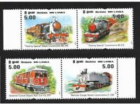 Sri Lanka 2011 Viceroy Steam Locomotive Trains Transport Railroads stamps 4v MNH