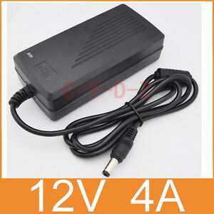 AC/DC LED Power supply Adapter Charger 12V 4A 48W for 5050/3528 LED Light CCTV