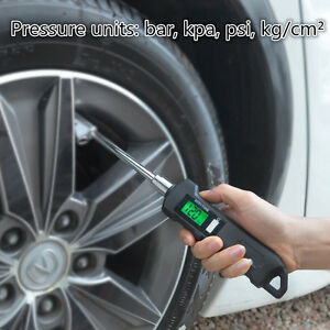 150PSI Dual Nozzle Digital Tire Pressure Gauge Tool SUV Car Truck Tester + Torch