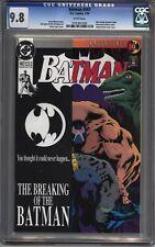 * BATMAN #497 CGC 9.8 Breaking Of The Bat! BANE Knightfall Pt 11 (0191851003) *