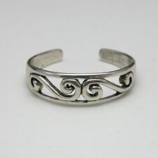 Solid 925 Sterling Silver Toe Ring / Midi Scroll Design Ladies New with Gift Bag