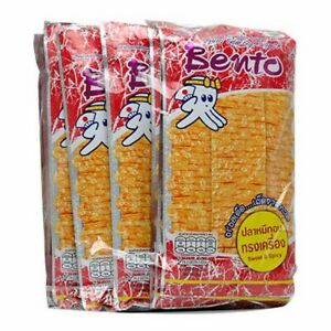BENTO SQUID SEAFOOD THAI SNACK YUMMY CRISPY SWEET&SPICY FLAVOR 12pcs x 20g