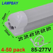LED Tube Light 2ft 3ft 4ft 5ft 6ft 8ft T8 Integrated Bulb Fixture Linear Lamp