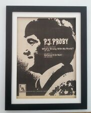 PJ PROBY What's Wrong With My World 1968*ORIGINAL*POSTER*AD*FRAMED*FAST WORLD SH