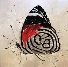 Original Butterfly Painting Abstract Wildlife Art Contemporary Nature Decor