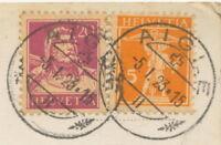 SCHWEIZ ORTSSTEMPEL AIGLE K1 1923 AK RP Vue générale et le Chaâteau Aigle