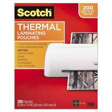 Scotch Letter Size Thermal Laminating Pouches 3 Mil 11 25 X 8 051141951133
